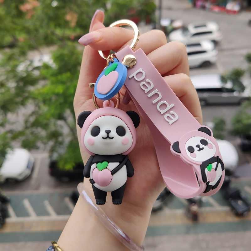 Panda Toys Baby Animal Stuffed Plush Toys Bag Phone Pandent Keychain Doll YJ