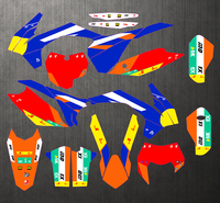 Free Customized Motorcycle Graphics Sticker Stickers Kit Decal For KTM 125 250 300 400 450 SXF 2013 2015 EXC EXC F 2014 2016