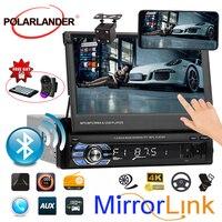 1 Din Auto Stereo Radio MP5 MP4 Player 7 zoll HD Touchscreen Bluetooth Unterstützung Hinten Kamera TF/FM /USB/AUX Lenkrad-steuerung