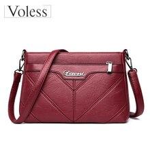 купить Retro Crossbody Bags for Women 2019 High Quality Female PU Leather Handbag Vintage Ladies Messenger Shoulder Bags Bolsa Feminina дешево