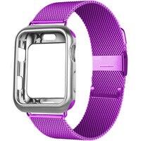 Funda y correa para Apple Watch, 44mm, 40mm, 38mm, 42mm, pulsera de Metal de acero inoxidable, serie iWatch 5 4 3 Se 6