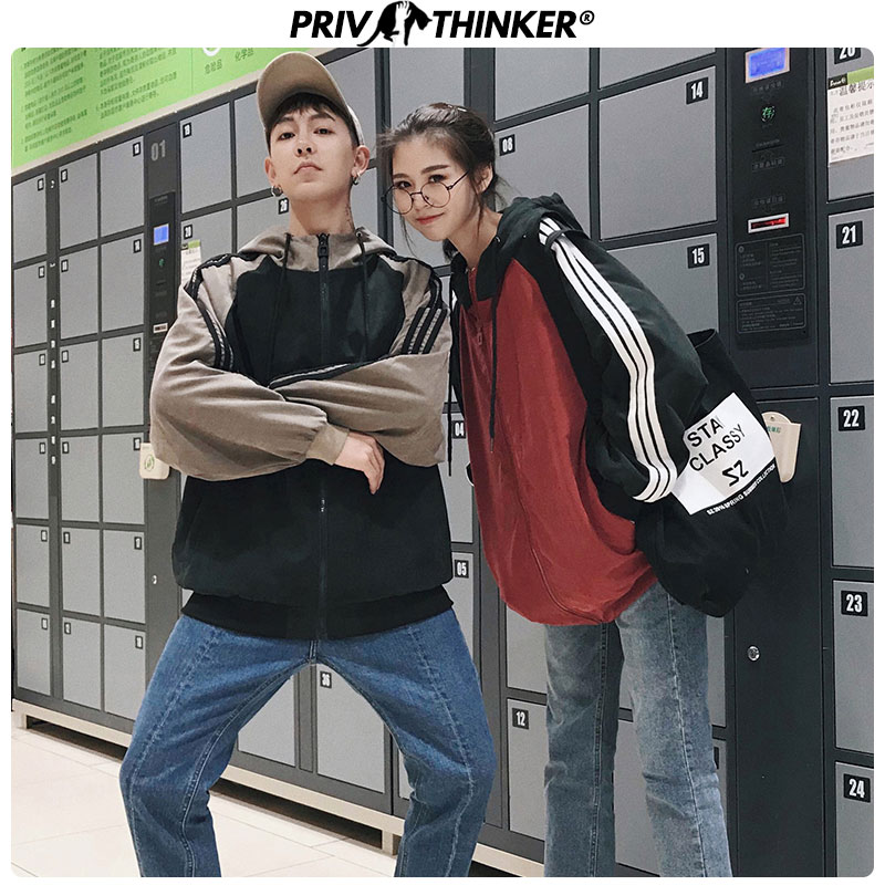 Privathinker Men Summer Hooded Casual Jackets 2020 Couple Korean Fashion Loose Jacket Clothes Male Spring Patchwork Coats News