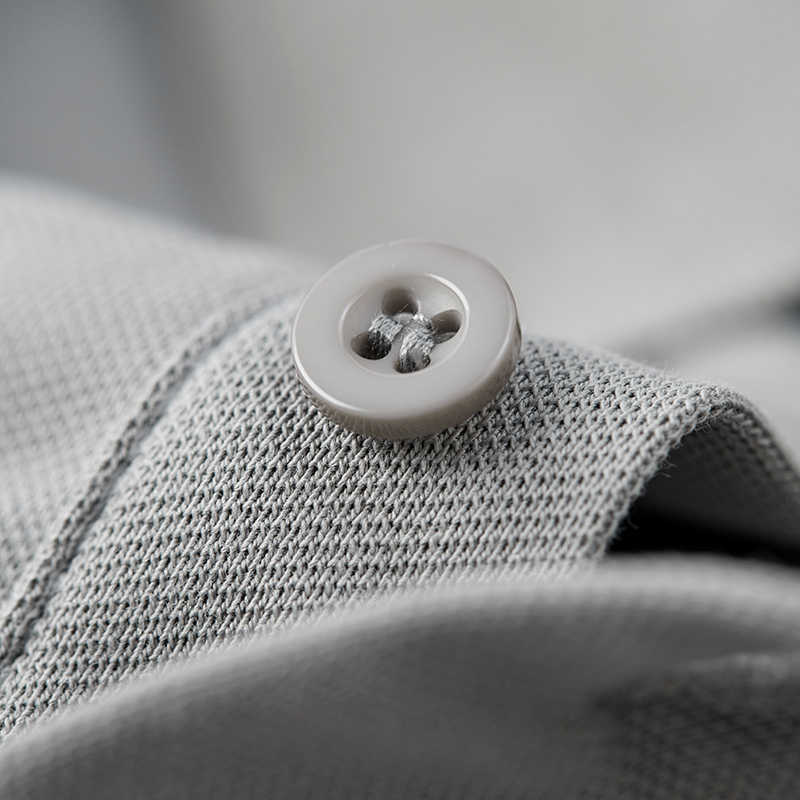 KUEGOU 2019 夏綿白ポロシャツ男性ファッション半袖スリムフィット Poloshirt 男性服ブランドトッププラスサイズ 1524