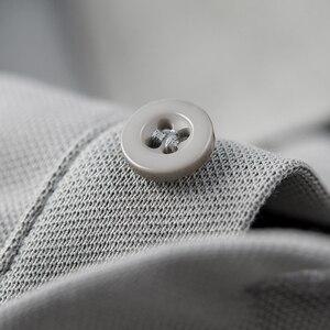 Image 5 - KUEGOU 2020 Homens Camisa Pólo de Moda de Algodão Branco de Verão de Manga Curta Slim Fit Marca Poloshirt Para Homens Além de Roupas Tamanho 1524