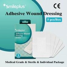 Smileplus – pansement adhésif de grande surface, approuvé CE, respirant, Flexible, absorbe, Bandage sensible, emballage aseptique, 7x10 cm