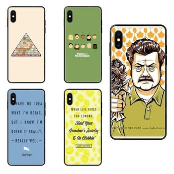 Affordable Funny Parks And Recreation For Huawei Honor 6A 7A 7X 8C 8X 9 9A 9I 9X 10 10I 20 20I 20S Lite Pro Black Soft TPU image