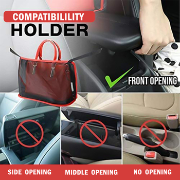 Car Net Pocket Handbag Holder,for Handbag Bag Documents Phone Car Net Pockets Storage Bag Sundries Bag vehicle organizer image