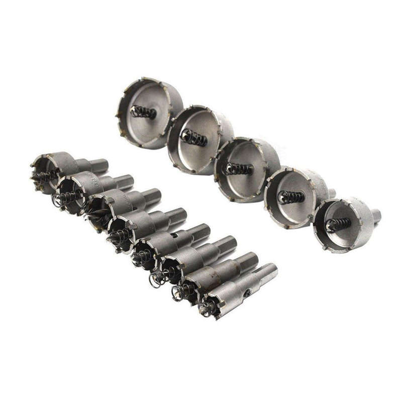 13Pcs Carbide Tip Tct Bit Hole Saw Set Stainless Steel Metal Alloy Tool Hole Set