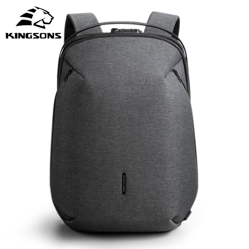 Kingsons Man Backpack Bag Mochila Laptop Anti-Thief Travel 15inch Fit Multi-Layer-Space