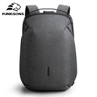 Kingsons Man Backpack Fit 15 inch Laptop USB Recharging Multi layer Space Travel Male Bag Anti thief Mochila