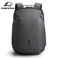 Kingsons homem mochila caber 15 polegada portátil usb recarga multi camada espaço viagem masculino saco anti ladrão mochila|Mochilas| |  -