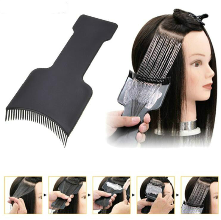 Professional Fashion Hairdressing Comb Hair Applicator Brush Dispensing Salon Hair Coloring Dyeing Pick Color Board Hair Styling