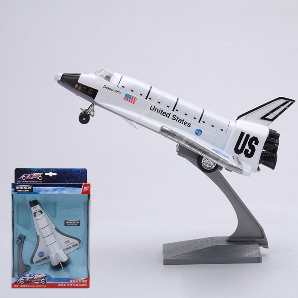Литая модель космического шаттбола, литая модель космического корабля со звуком и подсветкой, демонстрационная подставка для музыки, детск...