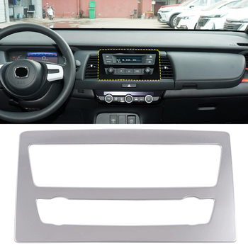 For Honda Jazz Fit Gr/Gs 2020 2021 Accessories Stainless Steel Matte Black Interior GPS Navigation Panel Cover Trim 1pcs image
