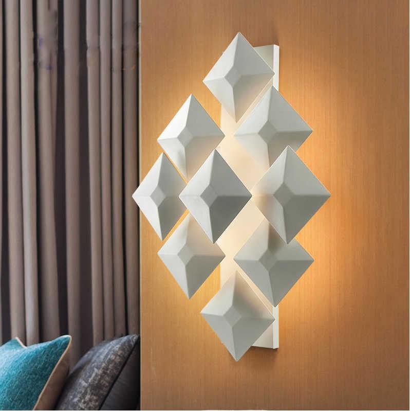 Светодиодный дизайнерский скандинавский сплав, светодиодный светильник, светодиодный настенный светильник, настенный светильник, бра для бара, магазин фойе, спальня
