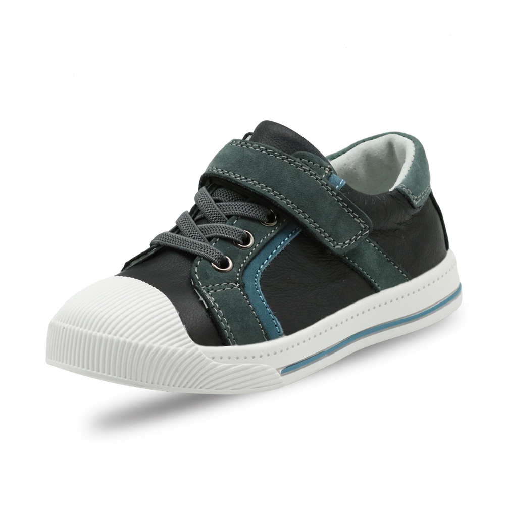Image 4 - Apakowa Little Kids Leather Low top Hook and Loop Sneakers for Boys and Girls Outdoor Anti Slip Casual Sports Running ShoesSneakers   -