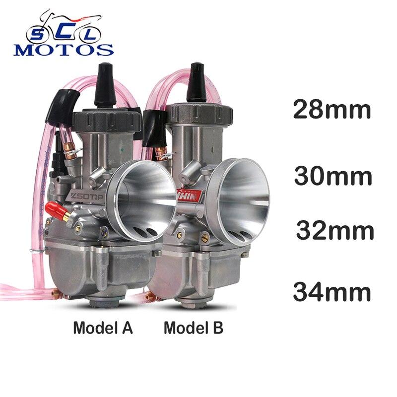 Sclmotos-carburateur de moto Keihin PWK 28mm 30mm 32mm 34mm avec Jet de puissance pour 100-250cc 4T ATV UTV Dirt Pit course de vélo