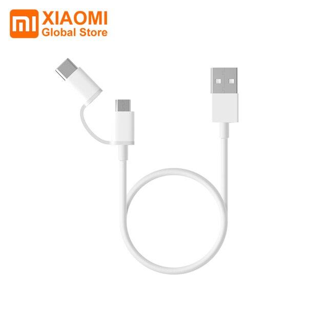 Xiaomi Mi Cable de datos USB 2 en 1, Cable de carga rápida de seguridad de 100cm y 30cm