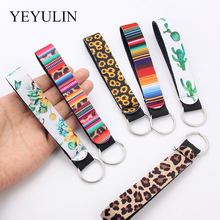 Flower Pattern Cloth Band Keychain Key Chain Lanyard For Women Phone Case Wallet Short Long Ribbon For Bag Charms Car Key Ring цена 2017