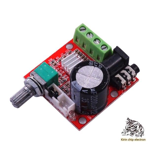 5pcs / Lot Pam8610 Mini Power Amplifier Tda2030 12V 10W Pure Class D Stereo Power Amplifier
