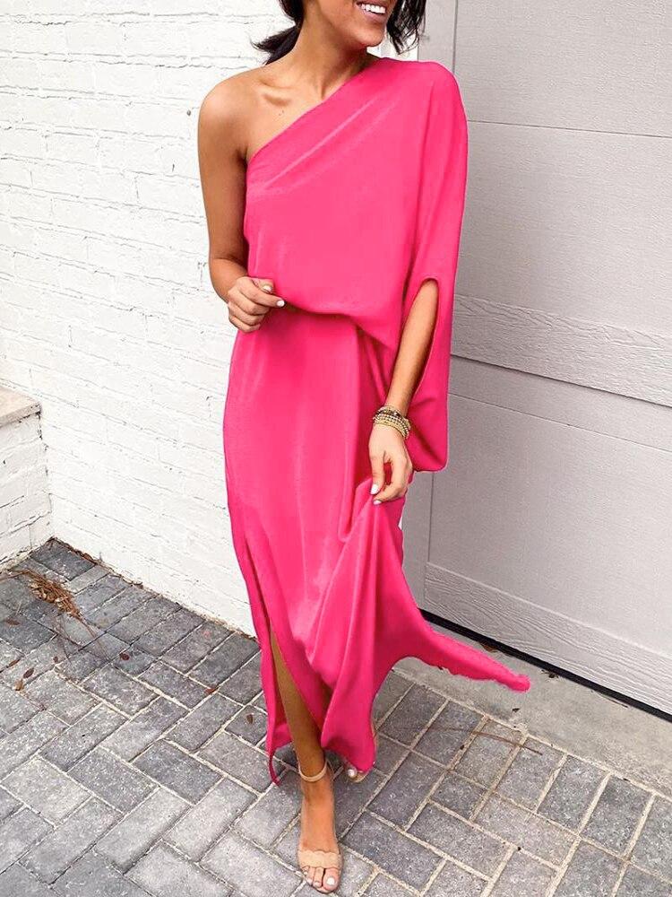 Купить женское летнее платье с оборками и открытыми плечами свободное