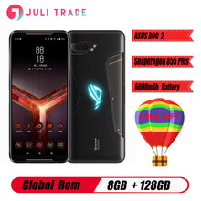 Global ROM ASUS ROG 2 6.59 Inch FHD + 6000mAh Android 9.0 NFC 8GB RAM 128GB ROM Snapdragon 855 Plus 2.96GHz 4G Gaming Smartphone