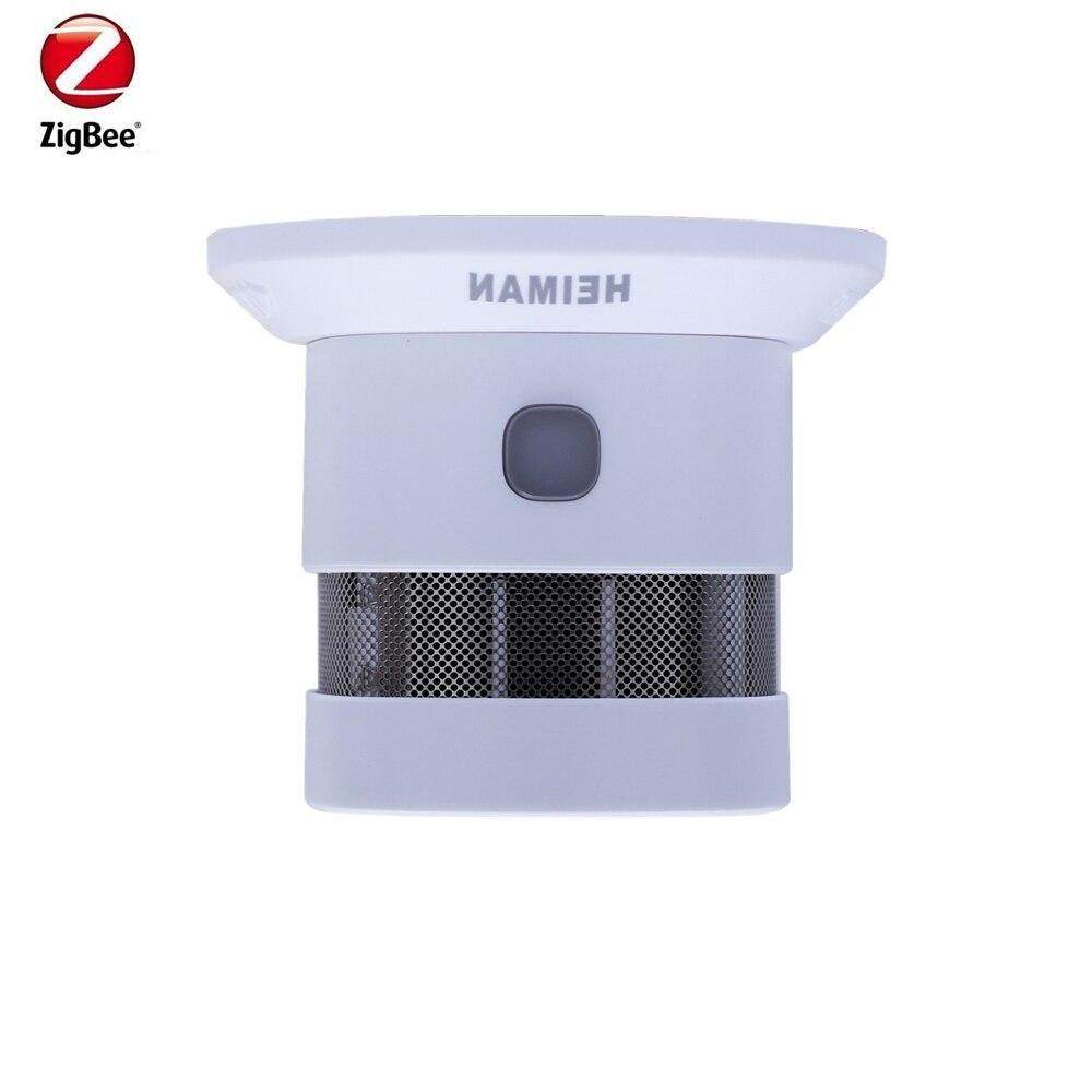 Heiman Zigbee Smart Anti-fire Detector Alarm Smoke Home Sensor Detectro Working With Samsung SmarThing Zigbee Hub