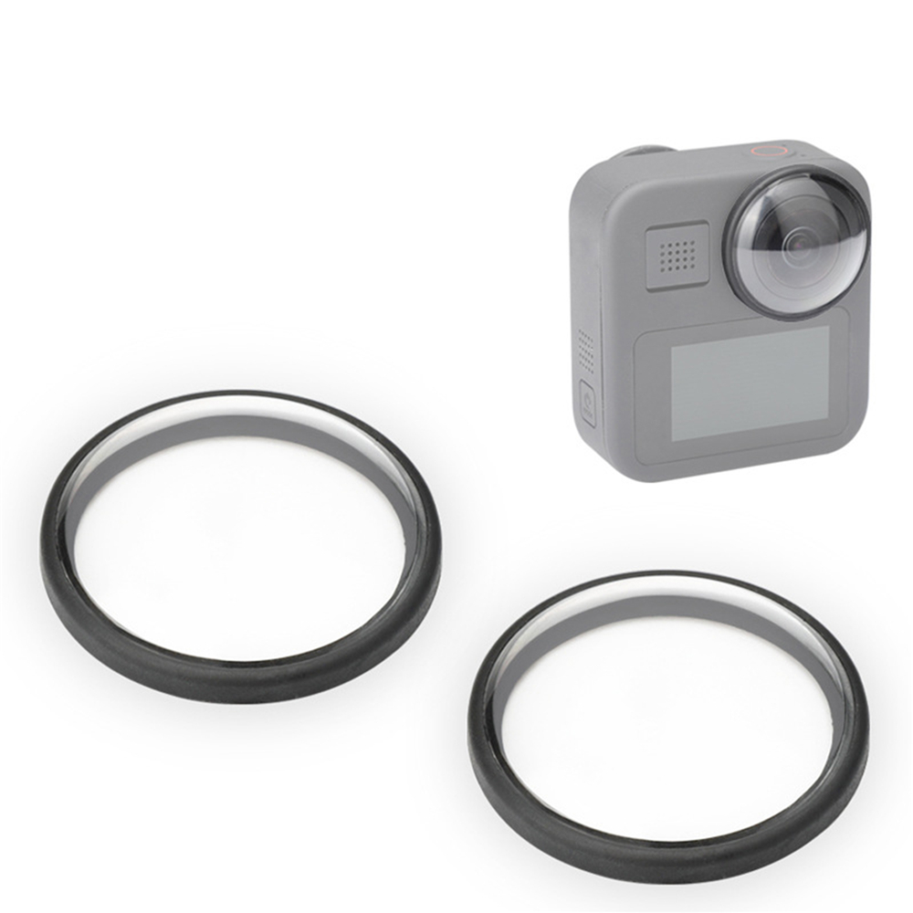 1 Pair Protective Covers Camera <font><b>Lens</b></font> Covers Frame for GoPro Max Sport Camera Accessories <font><b>35</b></font> * 10 <font><b>mm</b></font> image