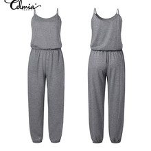 Sexy Sleeveless Suspender Jumpsuits Women Casual Knitted Rompers Celmia 2020 Sum