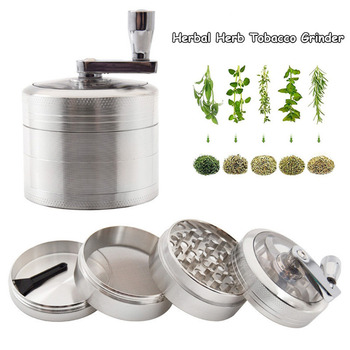 55mm Portable Herbal Herb Tobacco Grinder Smoke Grinders 4-Layer Aluminum Weed Cigarette Accessories
