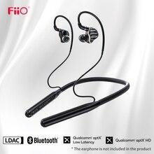 FiiO LC BT2 넥 밴드 MMCX 또는 0.78mm 핀 블루투스 5.0 이어폰 케이블, aptX LL/LDAC/24H 재생/마이크가있는 스포츠 이어폰 케이블
