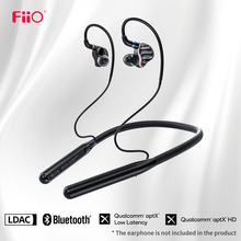 FiiO LC BT2 Neckband MMCX or 0.78mm pin Bluetooth 5.0 Earphone Cable,Sports earphone cable with aptX LL/LDAC/24H Playtime/Mic
