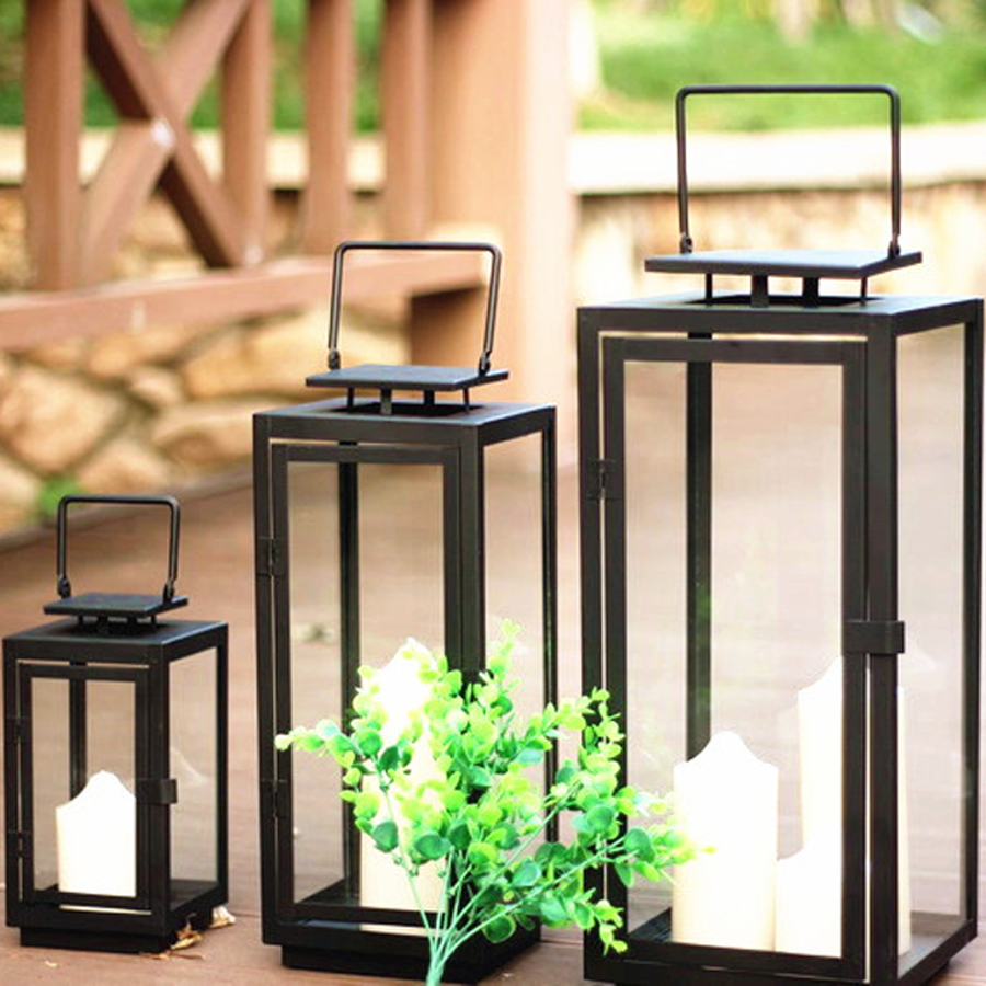 European Style Simple Candle Holder Wrought Iron Weeding Birthday Christmas Candle Candle Lantern Diwali Decorations Home 50X071 in Candle Holders from Home Garden