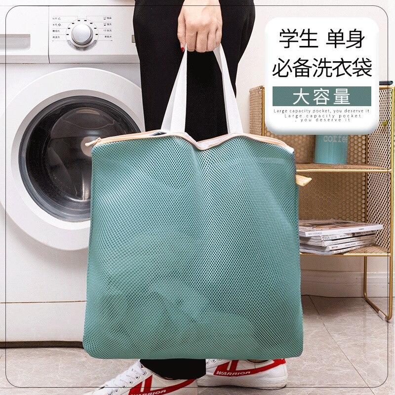 Ev Aletleri'ten Sebze Yıkayıcılar'de Taşınabilir çamaşır torbası koruyucu çamaşır torbası çamaşır makinesi için dönüşüm çamaşır cep ev ekstra büyük oldu title=