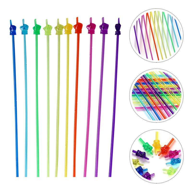 10pcs Teaching material pointer finger reading stick preschool teaching tool bendable stick Montessori teaching aids,children's