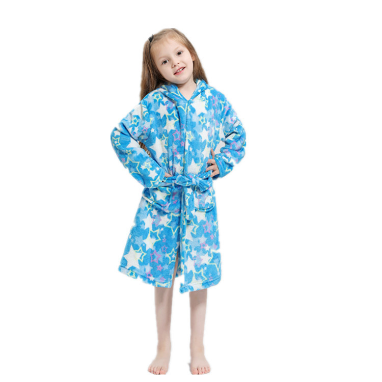 New Style Children Flannel Pajamas Tianma Bathrobe Cartoon Pajamas Animal Hooded Children Tracksuit