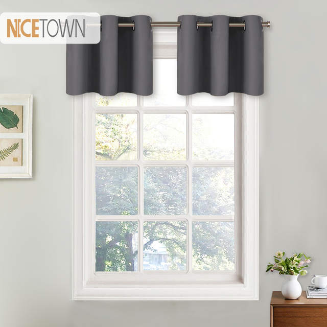 Nicetown Blackout Valance Curtain Thermal Insulated Eyelet Top