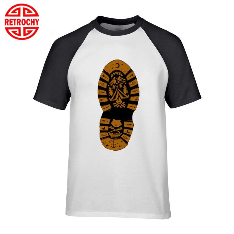 Climbing Hiking Shoes Printed Cotton T-shirt Short Sleeve Casual Summer Tops Tee