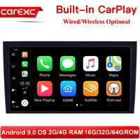 CarExc 8 Inch 2 din Android 9.0 Car Radio Multimedia For Audi A4 B6 B7 S4 B7 B6 RS4 B7 SEAT Exeo 2002 2008 GPS Navigation stereo