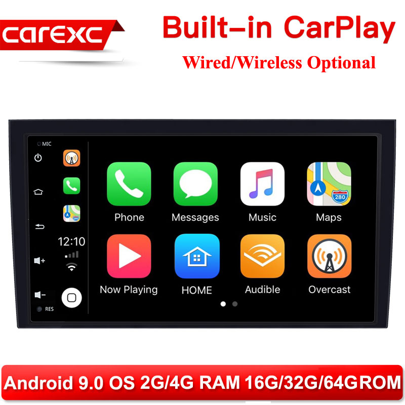 CarExc 8 Inch 2 din Android 9.0 Car Radio <font><b>Multimedia</b></font> For <font><b>Audi</b></font> <font><b>A4</b></font> <font><b>B6</b></font> B7 S4 B7 <font><b>B6</b></font> RS4 B7 SEAT Exeo 2002-2008 GPS Navigation stereo image