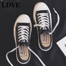 2019 Autumn New Fashion Canvas Shoes Woman Candy Color Women Casual Flats Solid Sneakers
