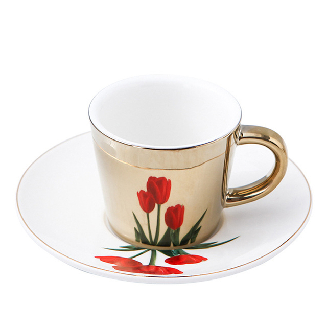 New Arrival Creative Rose mirror reflection cup Coffee mugs Breakfast Milk cup for girl friend Valentine's Day 1