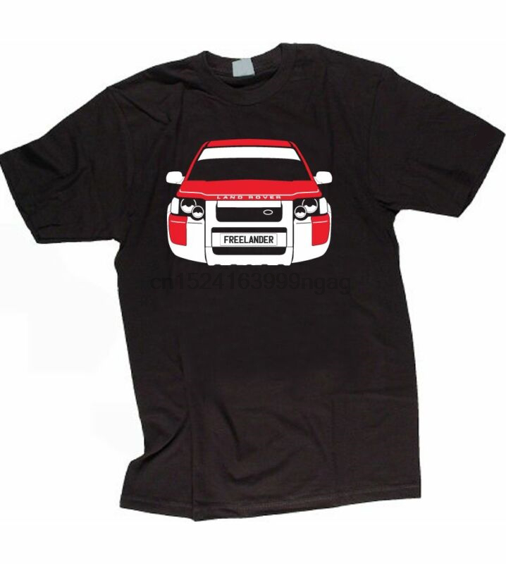 CUSTOM HTees T shirt LR FREELANDER 1997 2006 Pick car colour amp plate in T Shirts from Men 39 s Clothing