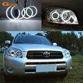 Ausgezeichnete 4 stücke Ultra helle CCFL angel eyes kit Halo Ring Für Toyota Rav 4 Rav4 III 2005 2006 2007 2008 projektor scheinwerfer