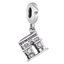 Nuevo colgante De Arco De Triunfo De París Vintage con abalorio De cuenta en plata esterlina 925 compatible con pulsera Pandora, brazalete, joyería Diy