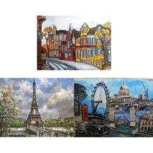 DIY Europe Architecture Oil Painting By Numbers Diy Canvas For Adults Kids Beginners Drawing With Brushes