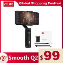ZHIYUN Official SMOOTH Q2 Phone Gimbal 3 Axis Pocket Size Handheld Stabilizer for Smartphone iPhone Samsung HUAWEI Xiaomi Vlog