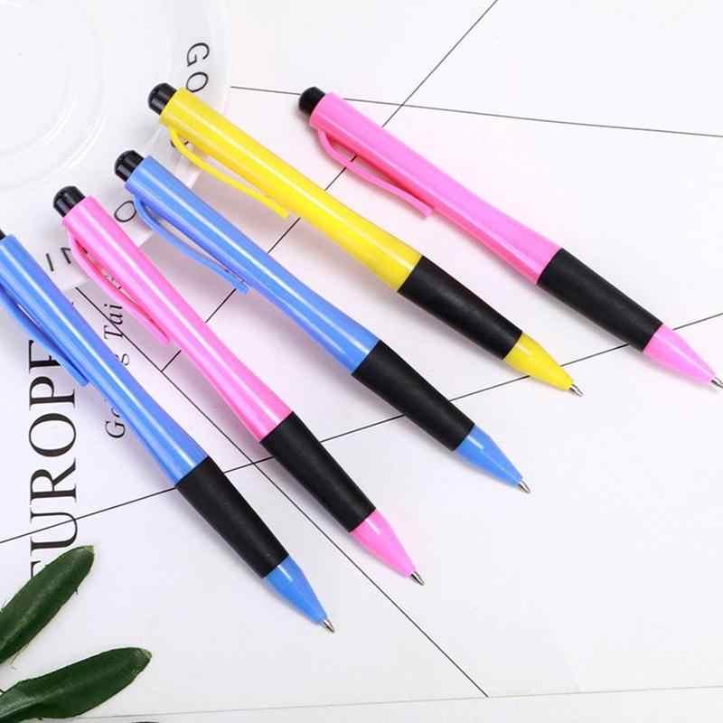 1 sztuk kolor losowo 0.7mm niebieski długopis atramentowy pióro uczeń pisanie papiernicze szkolne materiały biurowe