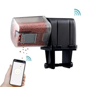 SUNSUN Automatic Aquarium Food Feeder Remote Control WIFI Wireless Fish Tank Auto Timer Fish Feeder Aquarium Accessories 170ml