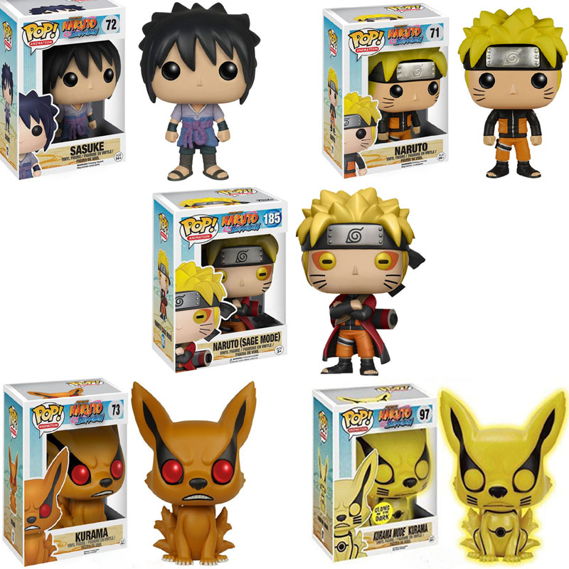 Funko Pop Cartoon Naruto Sasuke Vinyl Dolls Collection Figure Anime Figure Toys For Kids Christmas Gifts